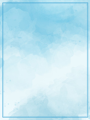 Blue gradient watercolor wild poster background material , Blue Background, Watercolor Background, Gouache Background Background image