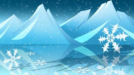 blue ice world advertising background design, Blue, Dream, Ice World Background image