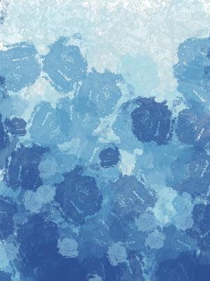 藍色簡約水彩風夏天海洋背景 少女心 水彩 漸變色背景圖庫