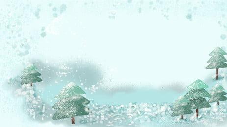 藍色松樹雪花冬季背景, 藍色, 冬季, 冬天背景 背景圖片