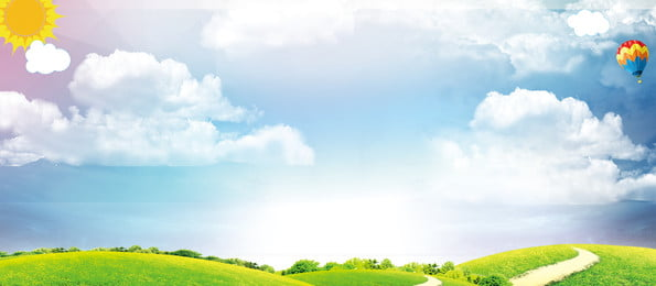 blue sky and white clouds beautiful background material, Grassland, Background, Beautiful Background image
