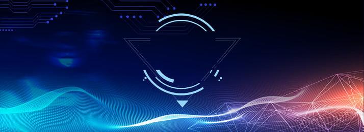 latar belakang poster kecerdasan buatan teknologi tech, Biru, Teknologi, Kecerdasan Buatan imej latar belakang