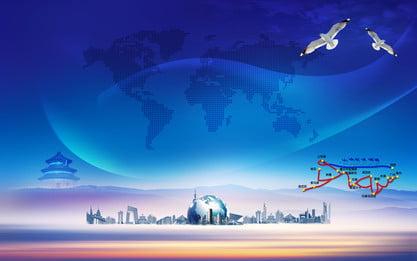 Thành phố công nghệ nền xanh khôn ngoan Banner Nền Thành Hình Nền