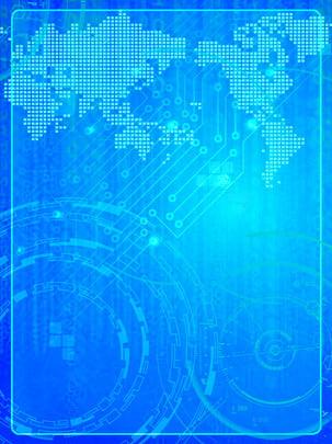 Công nghệ màu xanh bản đồ nền quảng cáo mát mẻ Màu Xanh Gió Hình Nền