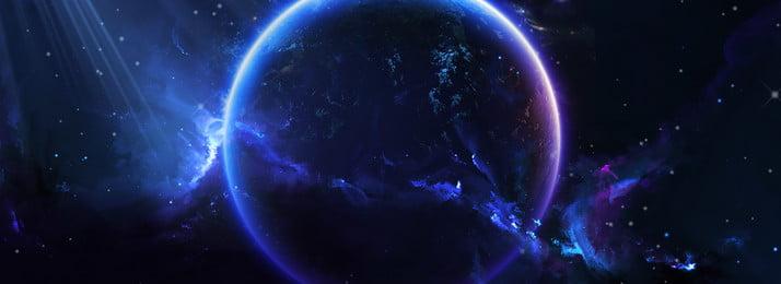 blue world peta tanah sejuk latar belakang spanduk, Biru, Angin Digital, Sains Dan Teknologi imej latar belakang