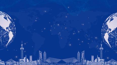 Màu xanh ba chiều xây dựng thành phố công nghệ thông minh Màu Xanh Kiến Hình Nền