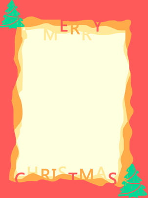 테두리 배경 크리스마스 빨강 녹색 트리 최소한의 , 국경, 단순한, 빨간색 배경 이미지