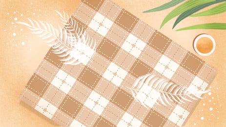 brown segar gingham plaid tablecloth background picture, Coklat, Segar, Tali Pinggang Kotak-kotak imej latar belakang