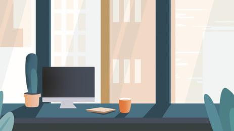 cái bàn phẳng hóa văn phòng thiết kế nền thương mại, Psd Nền, Văn Phòng, Bàn Ảnh nền