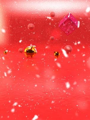 c4d leitão ano novo fundo de floco neve , C4d, Ano Novo, Leitão Imagem de fundo