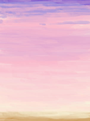 caixia oil painting gradient sky color watercolor hand painted background , Gradient Sky, Gradient Sky Color, Pink Clouds Background image