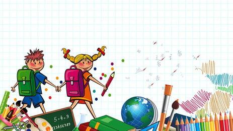 Projeto de fundo pintado infantil dos desenhos animados Estudante Criança Escola Caneta colorida Bolsa escola Aprendendo Globo Cor Geral Fundo Publicidade Imagem Do Plano De Fundo
