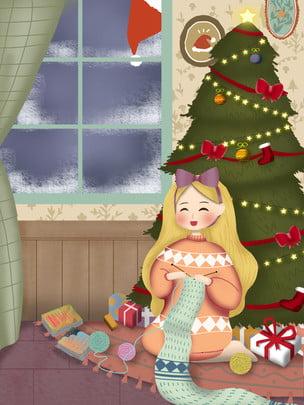 Phim hoạt hình chủ đề giáng sinh Cây Thông Giáng Hình Nền