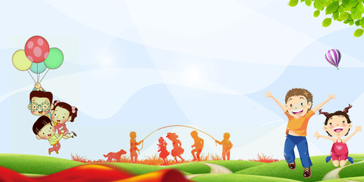Cartoon cute childrens day background design, Cartoon, Color, Lovely Background image