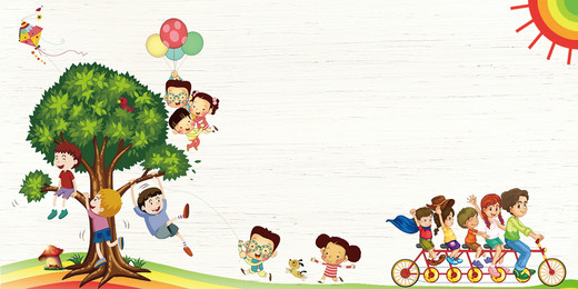 Cartoon cute childrens day holiday background design, Cartoon, Colorful Background, Childrens Day Background Background image