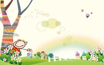 कार्टून ताजा रंग बच्चों के दिन की पृष्ठभूमि, कार्टून, कार्टून पृष्ठभूमि, छुट्टी की पृष्ठभूमि पृष्ठभूमि छवि