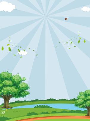 Cartoon thiết kế nền lễ hội cây tươi Phim Hoạt Hình Hình Nền