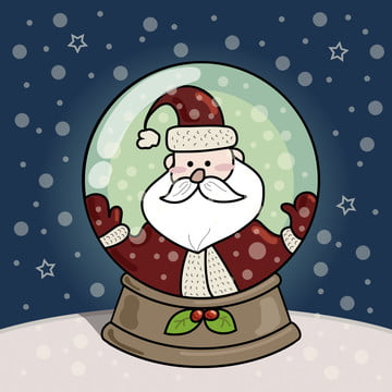 कार्टून हाथ खींचा क्रिसमस सर्दियों सांता क्लॉस हिमपात का एक खंड पृष्ठभूमि , कार्टून, हाथ खींचा हुआ, क्रिसमस पृष्ठभूमि छवि