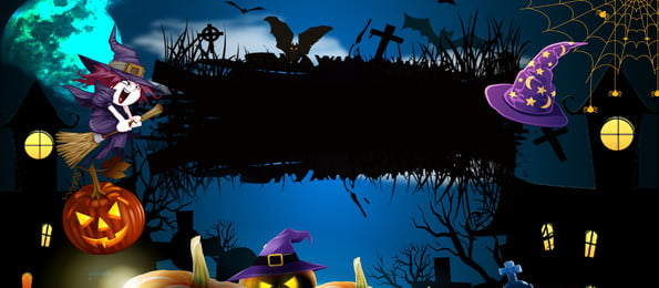 cartoon horror halloween background, Cartoon, Terror, Halloween Background Background image
