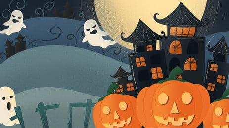 Phim hoạt hình kinh dị halloween nền Phim Hoạt Hình Hình Nền