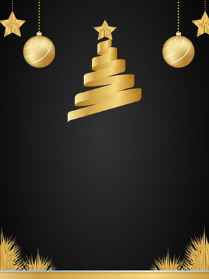 アニメ簡約クリスマスの黒金の背景 , Pspd背景, アニメ, つり球 背景画像
