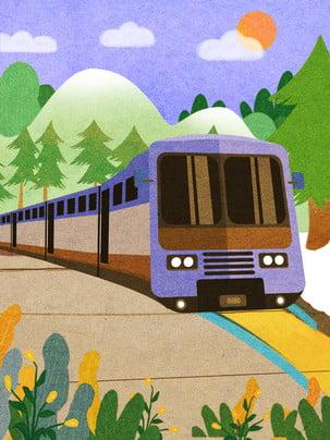 An toàn giao thông của hoạt hình vẽ minh họa cho nền văn minh Lợi ích Chung Hình Nền