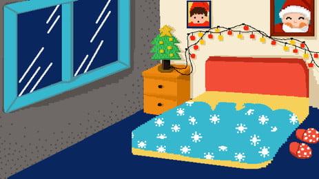 漫画冬クリスマスインテリアイラスト背景 クリスマスイブ 窓 クリスマス クリスマスツリー 冬 クリスマス帽子 軽い 新鮮な テクスチャ 広告の背景 背景素材 背景ディスプレイボード クリスマスイブ 窓 クリスマス 背景画像