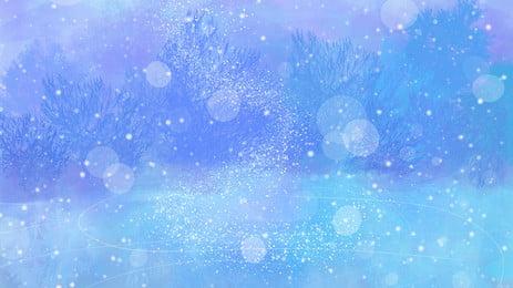 कार्टून शीतकालीन संक्रांति सौर बर्फ पृष्ठभूमि, हिमपात, भारी हिमपात, बर्फीली पृष्ठभूमि पृष्ठभूमि छवि