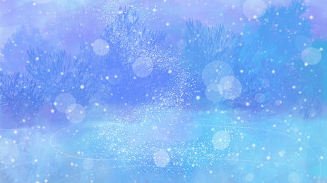 cartoon winter solstice solar snow background, Snowing, Heavy Snow, Snowy Background Background image