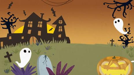 castle spree nền dưới ánh trăng halloween, Phim Hoạt Hình, Nền Halloween, Nền Kỳ Nghỉ Ảnh nền