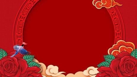 中国式の結婚式の背景, Pspd背景, おめでたい, 良縁を結ぶ 背景画像
