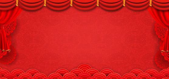 चीनी शैली 2019 सुअर वर्ष लाल मंच पृष्ठभूमि प्रदर्शन बोर्ड, अखाड़ा, बैकग्राउंड डिस्प्ले बोर्ड, सामान्य पृष्ठभूमि पृष्ठभूमि छवि