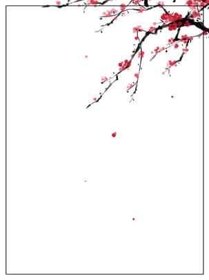 चीनी शैली शास्त्रीय सुंदर ताजा और सरल स्याही बेर पृष्ठभूमि सामग्री , चीनी शैली, क्लासिक, सुंदर पृष्ठभूमि छवि