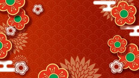 Hoa phong cách thiết kế nền năm mới Hoa Năm Mới Hình Nền
