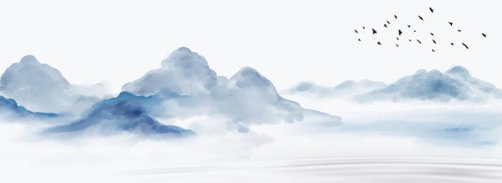 中国風インク風景風景の背景, 中華風, インクの風景, 中国風の背景 背景画像
