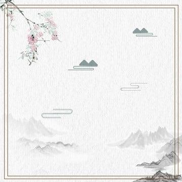 中国風の風景画 , 中華風, 景観, インク 背景画像