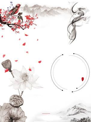 中国風の蓮の広告の背景 , 広告の背景, 中華風, ロータス 背景画像