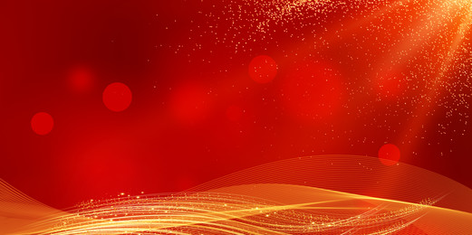 Chinese Style New Year Red Gold Background Material, Chinese Style, Red Gold Background, Happy New Year, Background image