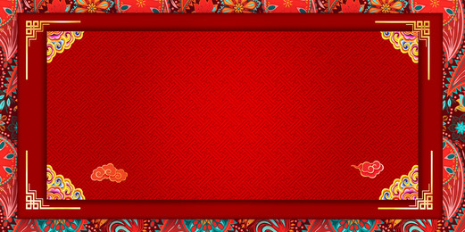 chinese style red new year background design, Red, Year Of The Pig, Spring Festival Background image