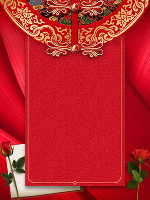 chinese style romantic rose wedding invitation background , Chinese Style, Romantic, Rose Background image