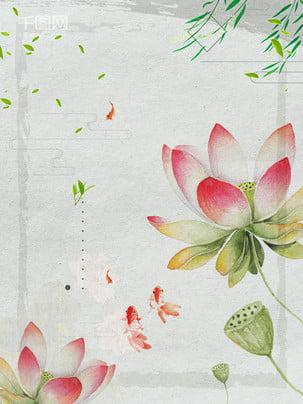 中国風水彩蓮の広告の背景 , 広告の背景, 中華風, ロータス 背景画像