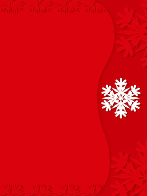 中國風雪花海報背景剪紙風 簡直風 紅色 簡約風格背景圖庫