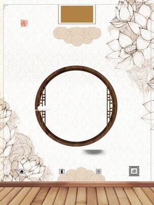 Trung Quốc cửa sổ gỗ gió quảng cáo nền Nền quảng cáo Bảng Trung Quốc Cửa Hình Nền