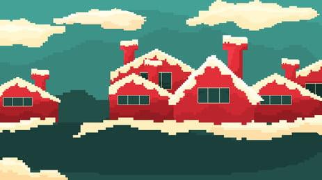 Giáng sinh 80 phong cách pixel cổ điển Giáng Sinh Giáng Hình Nền