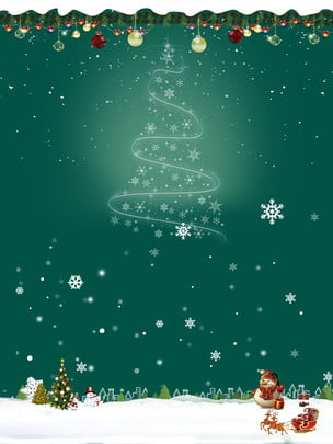 christmas christian background material in snow , Snowman, Star, Green Background image