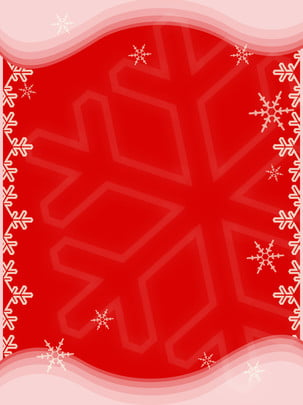 크리스마스 빨간색과 흰색 눈송이 minimalistic 배경 , 크리스마스, 빨간색, 화이트 배경 이미지
