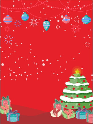 크리스마스 빨간 트리 선물 배경 , 크리스마스, 크리스마스 트리, 선물 배경 이미지