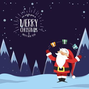 क्रिसमस सांता क्लॉस बर्फ पृष्ठभूमि , पृष्ठभूमि, क्रिसमस, सांता क्लॉस पृष्ठभूमि छवि