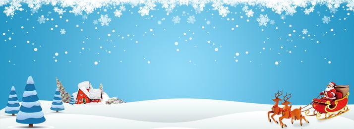 Christmas snow carriage background material, Christmas Carriage, Psd Background, Christmas Illustration Background image