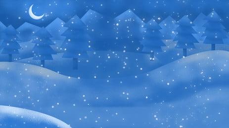 크리스마스 눈 풍경 크리 에이 티브 일러스트 배경 별이 빛나는 하늘,아름다운,꿈,눈,눈이 ,트리,크리스마스,광고 배경 이미지
